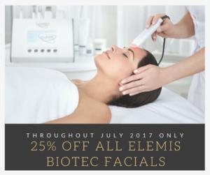 Elemis biotec facials at our beauty salon in Tiverton