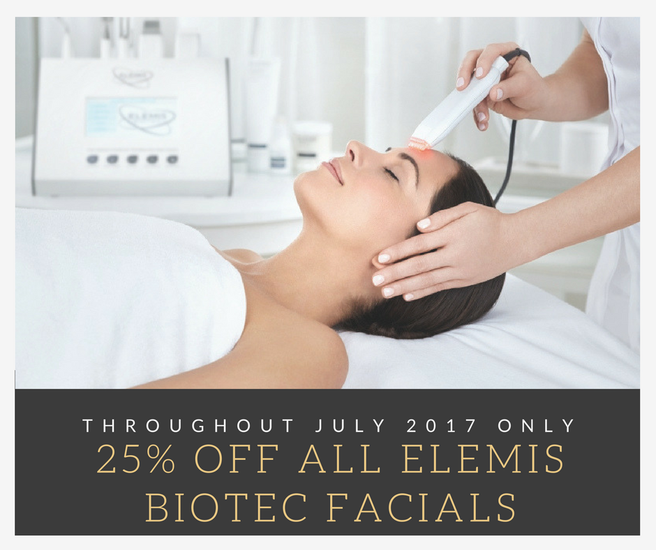Elemis biotec facials at our beauty salon in Tiverton