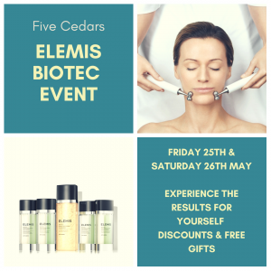 elemis facial event at our beauty salon in tiverton devon