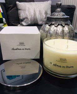 christmas candle devon elemis beauty salon handmade soy wax tiverton