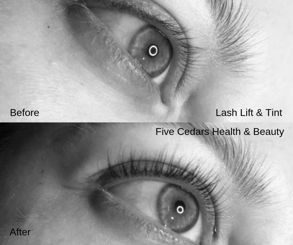 lash lift & tint lashes tiverton beauty debon salon nails tanning elemis facial massage