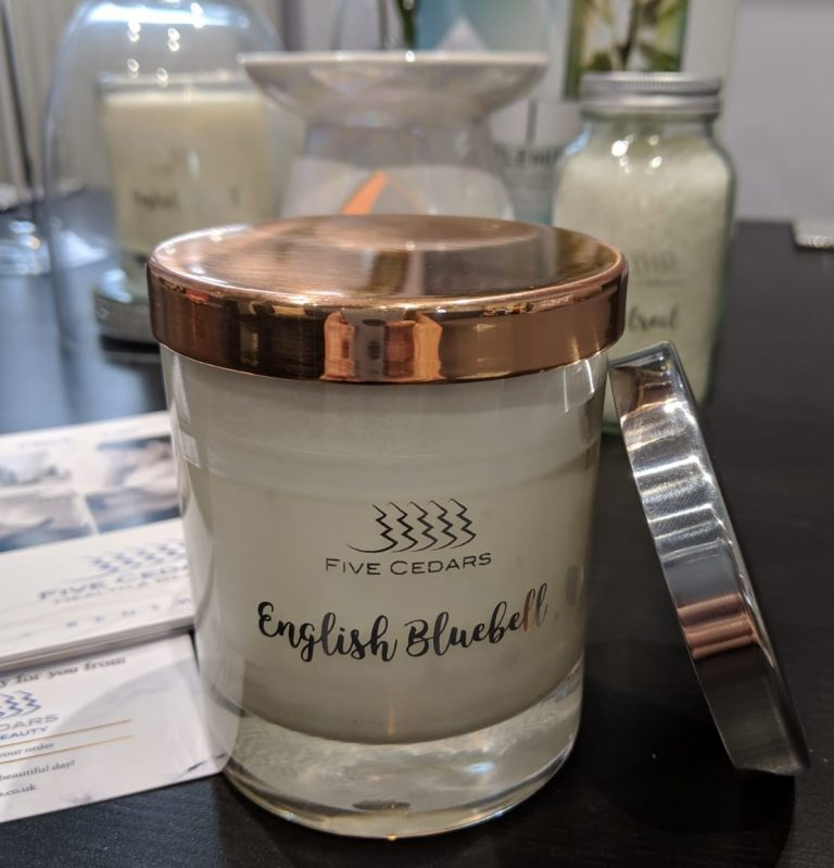 English Bluebell candle